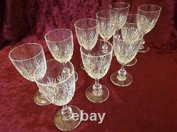 10 Verres Cristal Saint Louis Modele Massenet