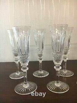 10 flûtes à champagne modèle Tommy en cristal de Saint Louis (prix à la pièce)