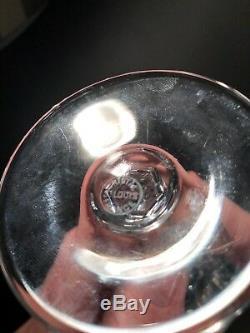 11 VERRES A VIN / EAU CRISTAL SAINT LOUIS SIGNÉS H 15,8 cm No Baccarat