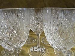 12 Verres à vin 8,5cl cristal Saint Louis mod Gavarni (crystal wine glasses)