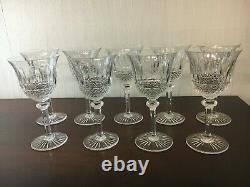 12 verres à eau modèle Tommy en cristal de Saint Louis (prix à la pièce)