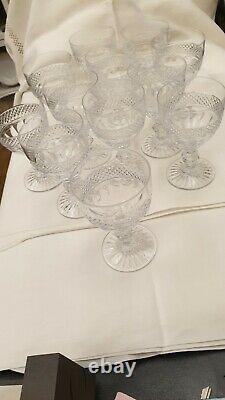 12 verres à vin en cristal de St Louis modèle Trianon