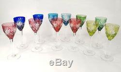 12 verres vin Rhin Roemers cristal Saint-Louis couleur modèle Chantilly XXè