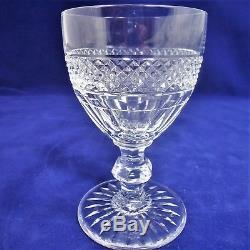 1 Série 6 verres à vin cristal taillé Saint Louis modèle Trianon ref/A22/36