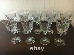 24 verres à vin modèle Tommy cristal de Saint Louis h 15 cm (prix à la pièce)