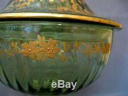 2892 drageoir en cristal de baccarat saint louis décor à l'or fin 19eme
