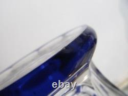2 Carafes à liqueur cristal saint louis cobalt bristol crystal liquor decanters