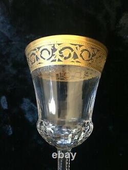 2 Verres a vin en cristal Saint Louis modèle Thistle