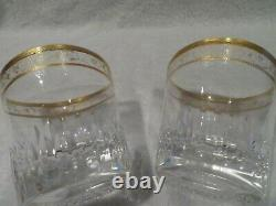 2 gobelets old fashion cristal Saint Louis Thistle (whiskey crystal goblets)
