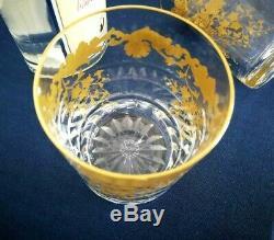 2 verres / gobelets cristal Saint Louis. Massenet Or / Gold