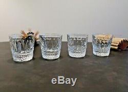 3(+1) verres, gobelets Tommy cristal Saint Louis. Old fashion H8,6cm. Estampillé