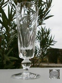4 Belles Flutes A Champagne En Cristal St Louis Modele Jersey Signees