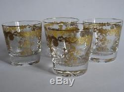 4 Verres A Whisky En Cristal Saint Louis Modele Massenet Gold