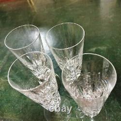 4 flûtes à Champagne cristal de Saint Louis modèle Jersey