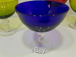 4 jolies coupes ou verres en cristal de Saint Louis