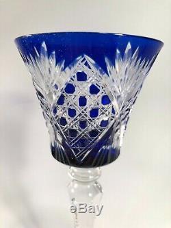 5 Verres À Vin Du Rhin Roemer Cristal Saint Louis Modèle Vologne Rare Couleurs