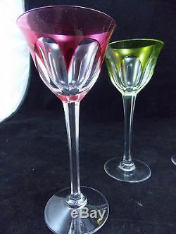 5 Verres A Vin Du Rhin Roemer En Cristal -h 15.5 Cms-saint Louisbaccarat