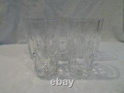 5 chopes verres à orangeade cristal Saint Louis Manhattan (soft drink glasses)