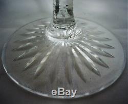 5 verres cristal Val Saint Lambert Saint Louis bohème. Réf/A/22/15