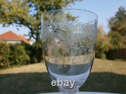 6 Anciens Verres A Vin Cristal St Louis Modele Massenet Catalogue 1930