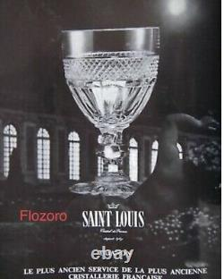 6 COUPES A CHAMPAGNE EN CRISTAL DE SAINT LOUIS MODELE TRIANON H 10 cm