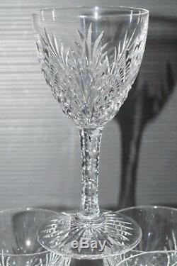 6 VERRES A PIEDS CRISTAL taillé SAINT LOUIS ST LOUIS ODESSA 1900 VIN Ht 12 cm