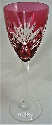 6 VERRES CRISTAL DE ST LOUIS CHANTILLY COULEUR ROEMER H / 21,5 cm A25/42