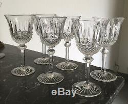 6 Verres À Vin En Cristal De Saint-Louis Tommy 15 Cm