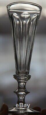 6 Verres Flutes Champagne Anciens Cristal Tailles Baccarat Saint Louis Caton