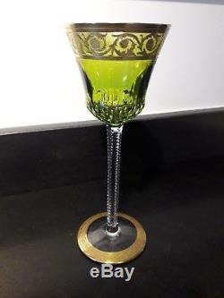 6 Verres Saint Louis Roemer Cristal Double Modele Thistle