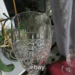 6 Verres à vin rouge en cristal de saint louis modèle Roland signé
