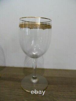 6 anciens verres à vin en cristal de Saint Louis modèle Roty