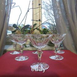 6 coupes a champagne en cristal de saint louis modèle gironde