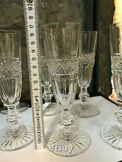 6 flûtes à champagne en cristal Saint Louis modèle Trianon