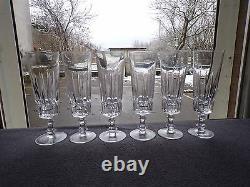 6 flûtes a champagne en cristal de baccarat saint louis lot 2