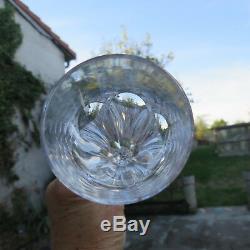 6 flûtes à champagne en cristal de saint louis modèle Chambord signé H 22,5