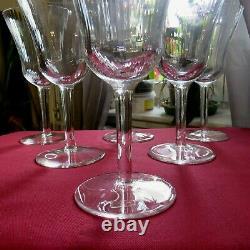 6 grand verres à eau en cristal de saint louis modèle apollo H 18,8 cm signé