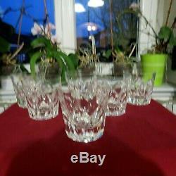 6 grand verres a whisky en cristal de saint louis modèle Camargue signé