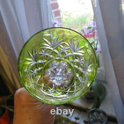 6 verre roemer de couleur en cristal doublé de saint louis H 19,7 modèle tivoli
