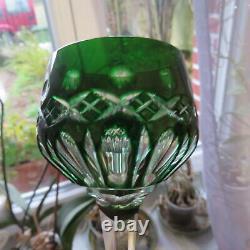 6 verre roemer de couleur en cristal doublé de saint louis H 20,5 cm taille 754