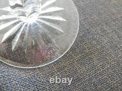 6 verres Roemer en cristal taillé de couleur dans le goût de Saint Louis Tommy