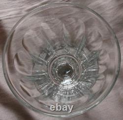 6 verres XIXème Cristal taillé à 10 pans coupés Baccarat Saint Louis
