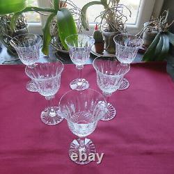 6 verres à bourgogne en cristal de saint louis modèle tommy H 17 cm