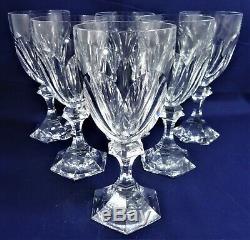 6 verres à eau cristal Saint Louis Chambord Réf A25/36 water glasses 18,9 cm