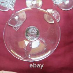 6 verres a eau en cristal saint louis modèle chantilly H 17,6 signé
