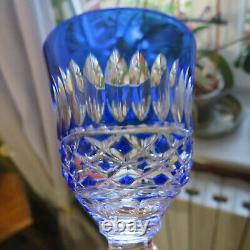 6 verres a liqueur de couleur en cristal doublé saint louis ou lorraine H 14,1 c