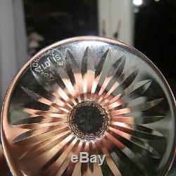 6 verres à liqueur en cristal de saint louis modèle riesling signé H 12,5 cm