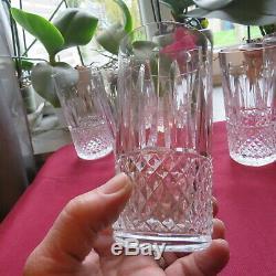 6 verres à orangeade en cristal de saint louis tommy signé H 12,9 cm