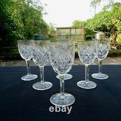 6 verres a vin N 4 en cristal de saint louis modèle FLORENCE signé