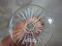 6 verres a vin Saint Louis model Tommy cristal de Saint Louis hauteur 15 cm